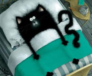 cat and sleep image