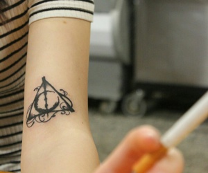 tattoo and deathly hallows image