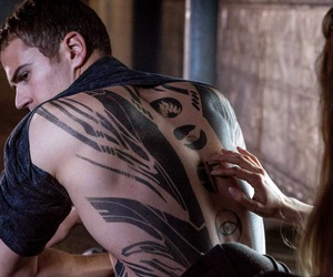four, tattoo, and divergent image