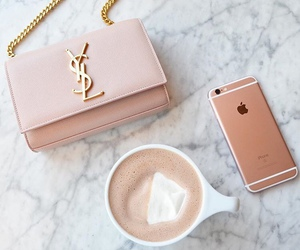iphone, coffee, and pink image