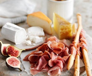 food, cheese, and figs image