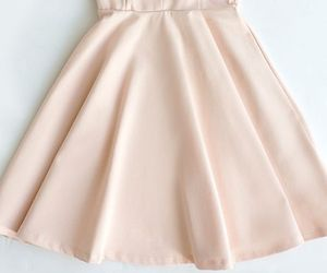 dress, light pink prom dress, and cute prom dress image