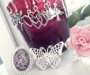 beautiful, pink, and rings image