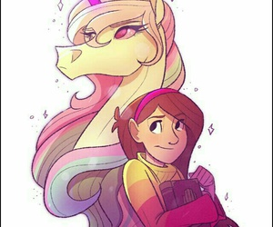 gravity falls, unicorn, and mabel image