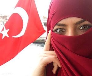 eyes, flag, and hijab image