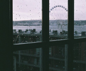 rain, window, and london image