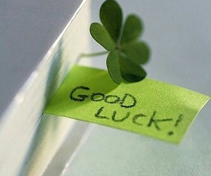 good luck, green, and book image