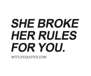 black and white, text, and breaking rules image