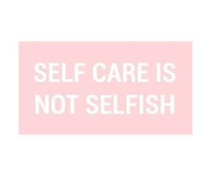 pink, selfish, and text image