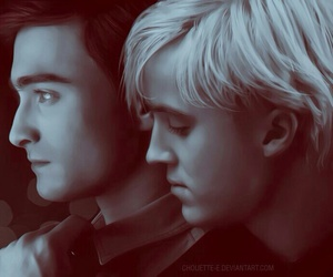boy, draco malfoy, and hogwarts image