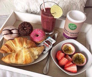 food, fruit, and croissant image