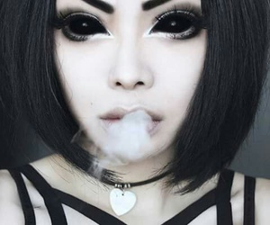 wylona hayashi, goth, and model image