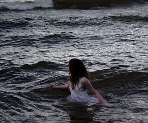 creepy, sea, and whirlpool image