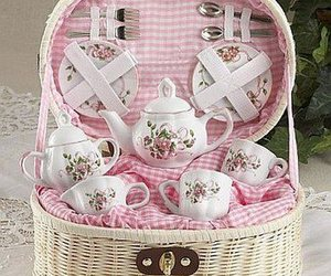 beautiful, pink, and teatime image