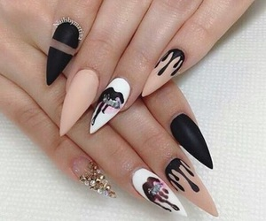 nails, black, and kylie image