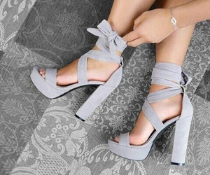 fashion, grey, and heels image