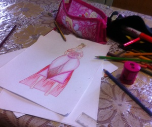 art, pink, and barbie image