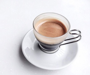 coffee, drink, and white image