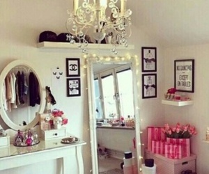 room, mirror, and girly image