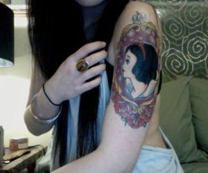 tattoo, girl, and snow white image