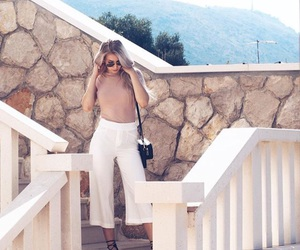 beige, blonde, and culotte image