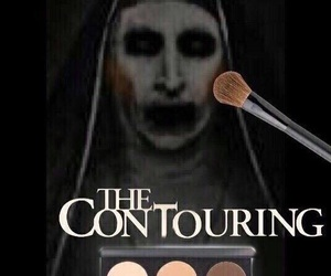 funny, makeup, and contouring image