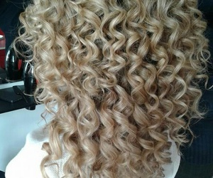 girl, hair, and perm image