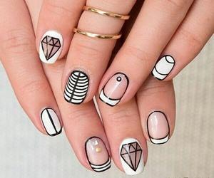 nails, white, and diamond image