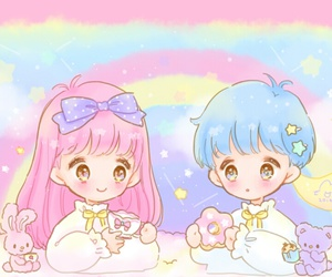 kawaii, little twin stars, and cute image