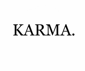 karma, letters, and quote image