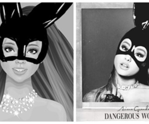 black and white, dangerous, and bunny image