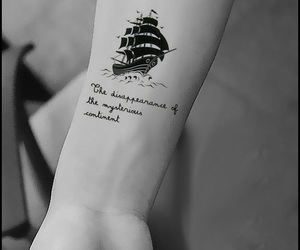 black, boat, and Tattoos image