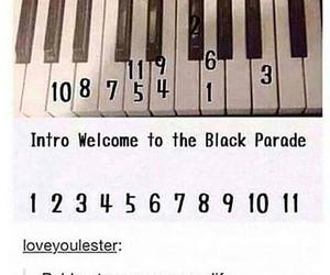 mcr, my chemical romance, and piano image