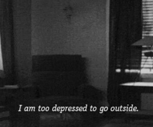 depressed, sad, and outside image