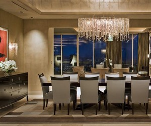 chandeliers, dining room chandeliers, and dining rooms image