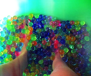 beads, water, and orbeez image