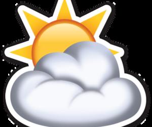 emoji, clouds, and sun image
