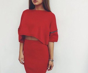 red and outfit image