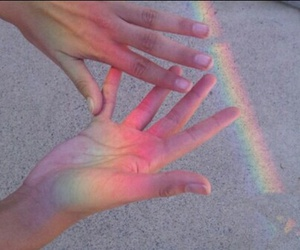 color, grunge, and hands image