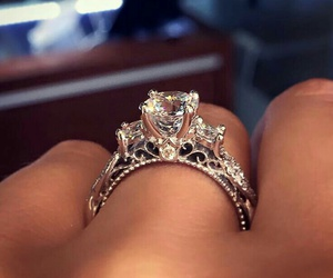 diamond, engagement, and fancy image
