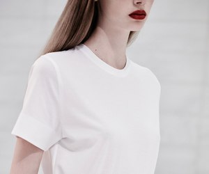 girl, white, and lips image