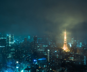 city, cityscape, and clouds image