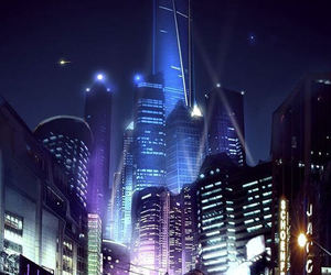 art, city, and cyber image