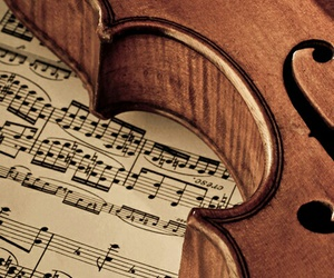 music, violin, and notes image