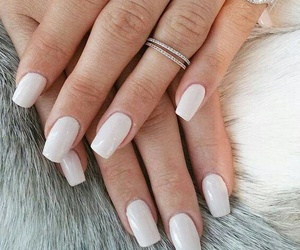 Nails White And Rings Image