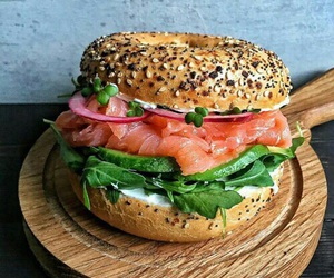 food, healthy, and bagel image