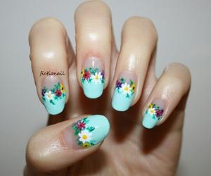 floral, nail art, and nails image
