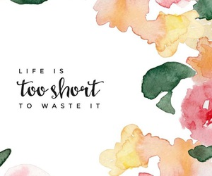 wallpaper, flowers, and quotes image