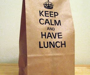 keep calm, lunch, and food image