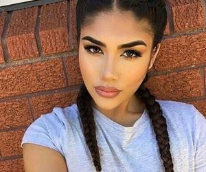 girl, makeup, and braid image